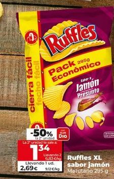 Oferta de Snacks Ruffles por 2,69€