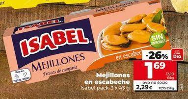 Oferta de Mejillones en escabeche Isabel por 1,69€