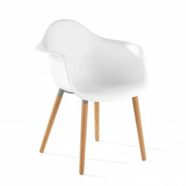Oferta de Silla confidente de diseño Julia color blanco por 65€