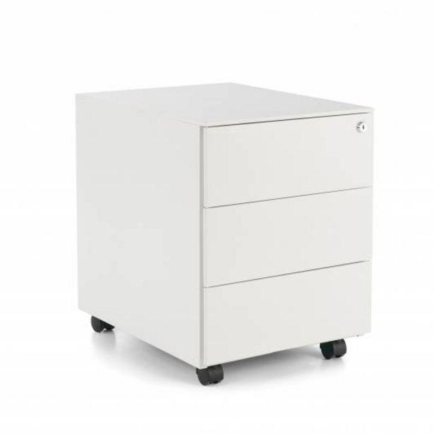 Oferta de Steelbox Buc cajonera  3 cajones blanco por 159€