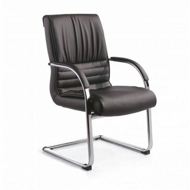 Oferta de Sillón de oficina Oxford, amplia sentada, Patín piel natural por 259€