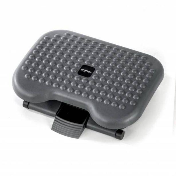 Oferta de Erghos Reposapies Ergonómico ajustable, antideslizante y con efecto masaje, Negro por 29€