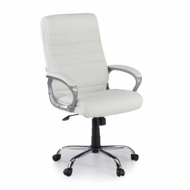 Oferta de Sillon de oficina Gamma, brazos tapizados, blanco por 109€