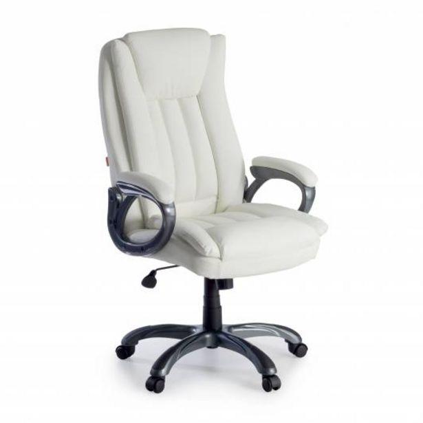 Oferta de Sillon de oficina Darwin, brazos tapizados, blanco por 143€