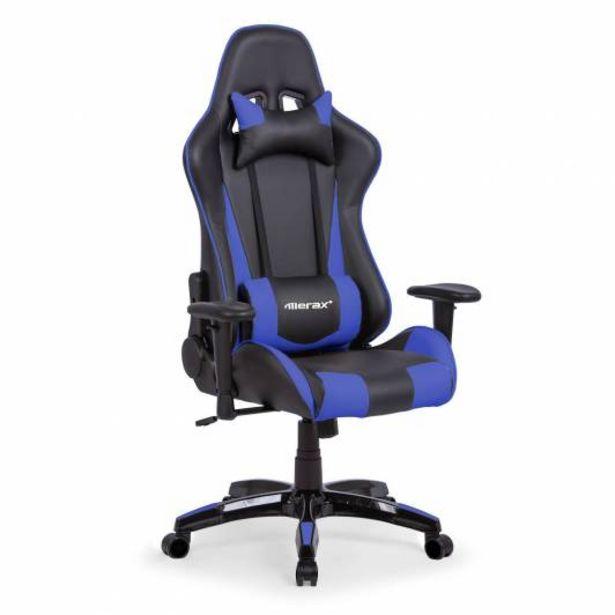 Oferta de Silla gaming DiabloX, soporte lumbar, brazos 1D, azul por 169€