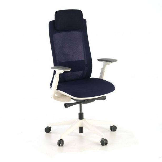 Oferta de Silla de oficina ergonómica Reflect White, azul por 279€
