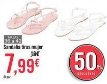 Oferta de Sandalia tiras mujer por 7,99€
