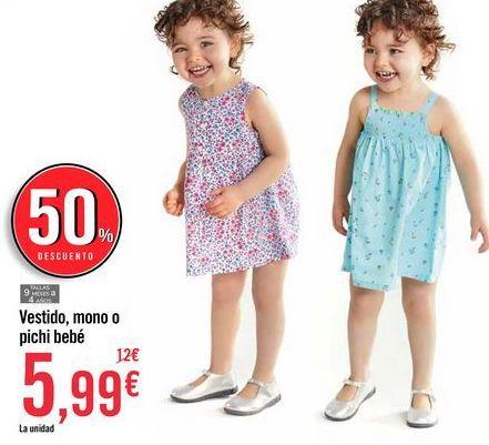 Oferta de Vestido, mono o pichi bebé por 5,99€