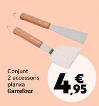 Oferta de Set 2 accesorios plancha Carrefour por 4,95€
