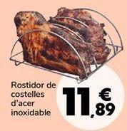 Oferta de Asador de costillas en acero inoxidable por 11,89€