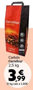 Oferta de Carbón Carrefour por 3,99€
