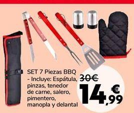 Oferta de SET 7 Piezas BBQ por 14,99€