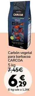 Oferta de Carbón vegetal para barbacoa CARCOA por 6,29€