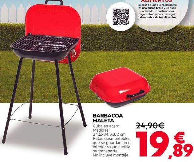 Oferta de BARBACOA MALETA por 19,89€