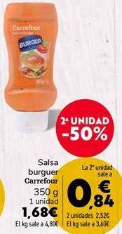 Oferta de Salsa burguer Carrefour  por 1,68€