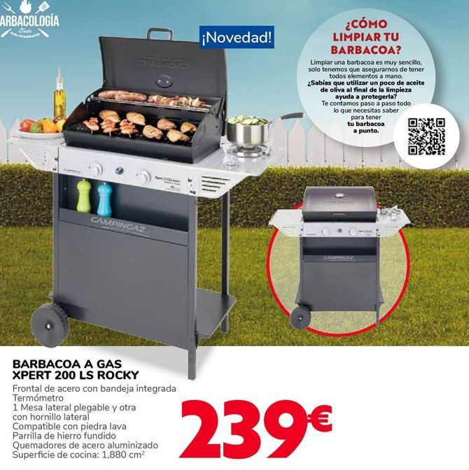 Oferta de BARBACOA A GAS XPERT 200 LS ROCKY por 239€