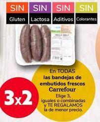 Oferta de En TODAS las bandejas de embutidos frescos Carrefour  por