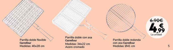 Oferta de Parrilla doble flexible Carrefour por 4,99€
