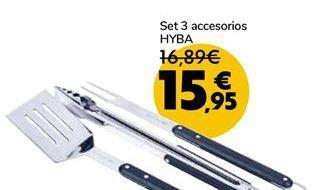 Oferta de Set 3 accesorios HYBA por 15,95€