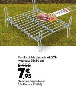 Oferta de Parrilla doble zincada ALGÓN  por 7,95€