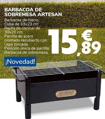 Oferta de BARBACOA DE SOBREMESA ARTESAN por 15,89€