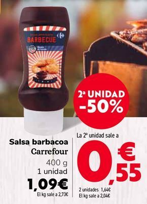 Oferta de Salsa barbacoa Carrefour  por 1,09€