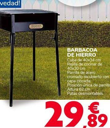 Oferta de BARBACOA DE HIERRO por 29,89€