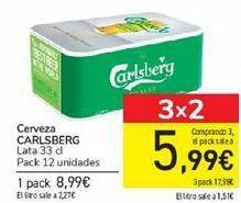 Oferta de Cerveza CARLSBERG por 8,99€