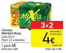 Oferta de Cerveza MAHOU Mixta por 6€
