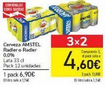 Oferta de Cerveza AMSTEL Radler o Radler 0,0% por 6,9€