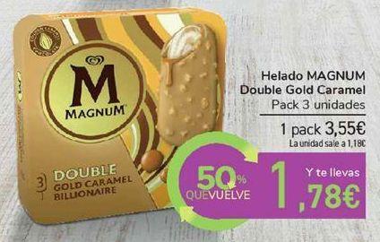 Oferta de Helado MAGNUM Double Gold Caramel por 3,55€