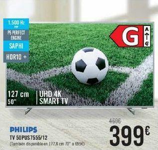 Oferta de PHILIPS TV50PUS7555/12  por 399€
