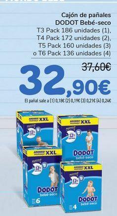 Oferta de Cajón de pañales DODOT Bebé-seco  por 32,9€