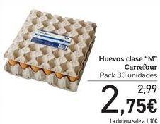 """Oferta de Huevos clase """"M"""" Carrefour por 2,75€"""