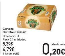 Oferta de Cerveza Carrefour Classic  por 4,79€