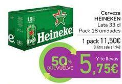 Oferta de Cerveza HEINEKEN  por 11,5€