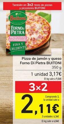 Oferta de Pizza de jamón y queso Forno Di Pietra BUITONI por 3,17€