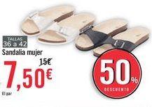 Oferta de Sandalia mujer  por 7,5€