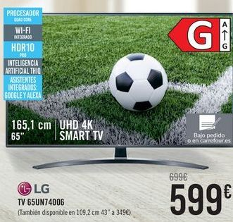 Oferta de LG TV 65UN74006  por 599€