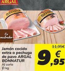 Oferta de ARGAL Jamón cocido extra o pechuga de pavo ARGAL BONNATUR por 9,95€