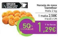 Oferta de Naranja de mesa Carrefour por 2,58€