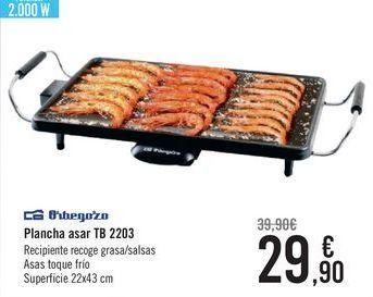 Oferta de Orbegozo Plancha asar TB 2203  por 29,9€