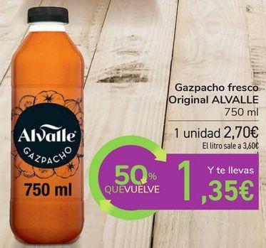 Oferta de Gazpacho fresco Original ALVALLE por 2,7€