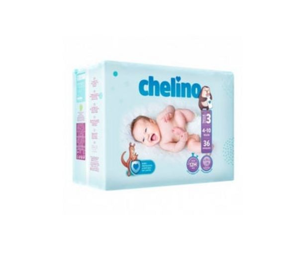 Oferta de Chelino Fashion&Love pañales T3 4-10kg 36uds por 5,97€