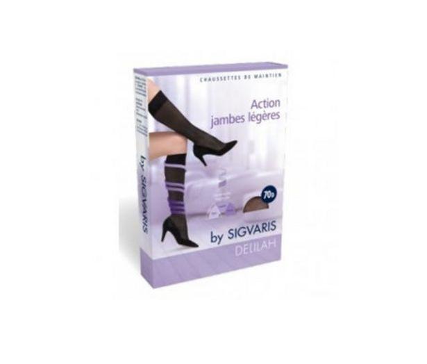 Oferta de SIGVARIS DELILAH Hold Socks 70D Color - Beige Natural, Talla - Talla 2 por 7,9€