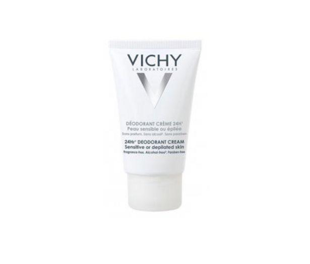 Oferta de Vichy desodorante crema pieles sensibles 40ml por 10,35€