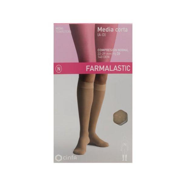 Oferta de Farmalastic media corta (A-D) compresión normal  T-grande beige 1ud por 9€