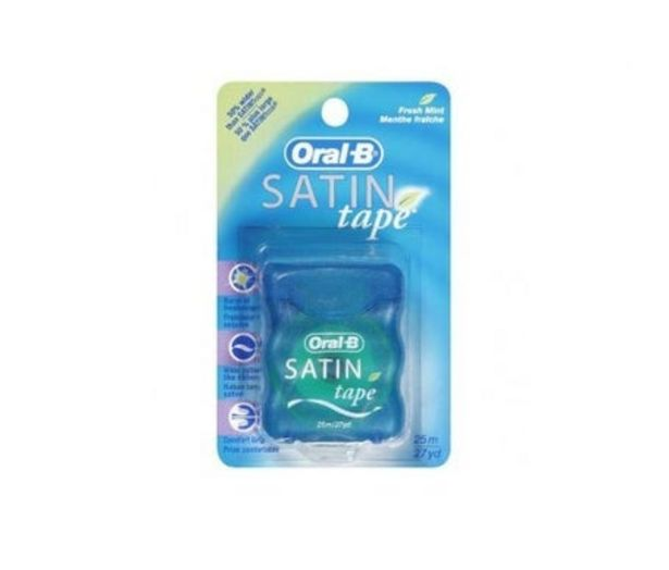 Oferta de Oral-B Satin Tape Fluor cinta dental menta 25m 1ud por 2,7€