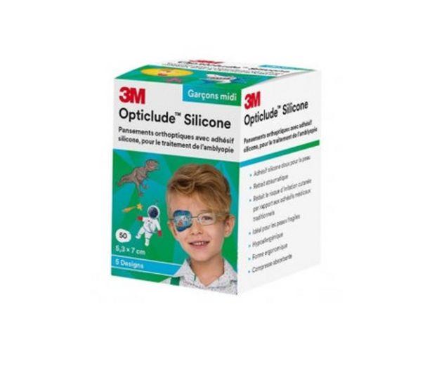 Oferta de 3M Opticlude Silicone Eye Boy Midi 50uds por 26,9€