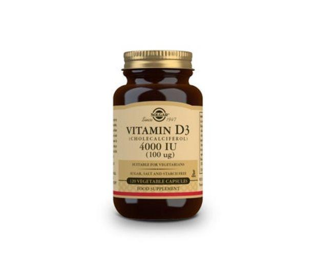 Oferta de Solgar vitamina D3 4000UI 120cáps por 27,52€